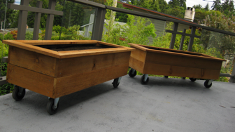 Horizontal Cedar Planter With Casters U2026
